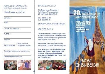 Kinderbibeltage Anmeldung - Katholische Pfarrgemeinde St ...
