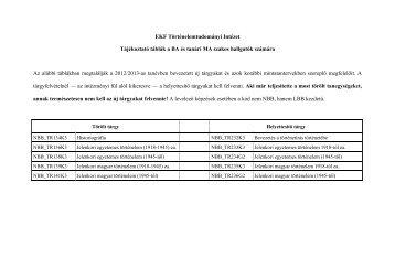 Tájékoztató táblák a BA és tanári MA szakos hallgatók számára (.pdf)