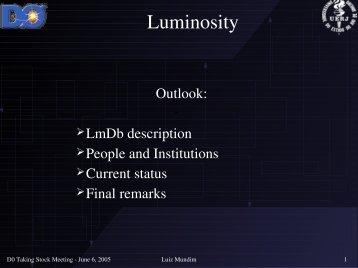 Luminosity - Fermilab