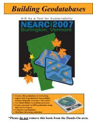 Building Geodatabases - Northeast Arc Users Group