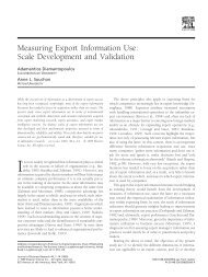 Measuring Export Information Use: Scale Development and ... - fea-RP