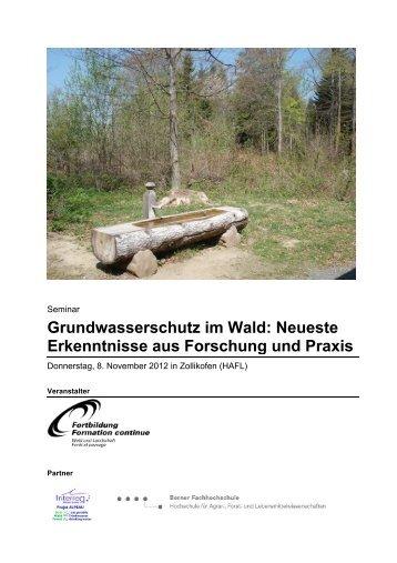 Grundwasserschutz im Wald: Neueste Erkenntnisse aus Forschung ...