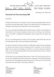 Elternbrief zur Firmvorbereitung 2008 - Katholische Kirche St ...