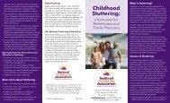 Childhood Stuttering: - National Stuttering Association