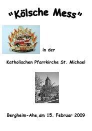 Das Kinderdreigestirn der Session 2008/2009 - St. Michael, Ahe