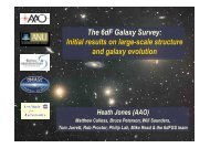 The 6dF Galaxy Survey: Initial results on large-scale structure and ...