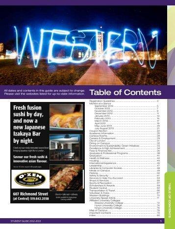 Student Guide - Academic Calendar - University of Western Ontario