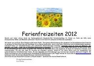 Ferienfreizeiten 2012 - St. Michael, Ahe