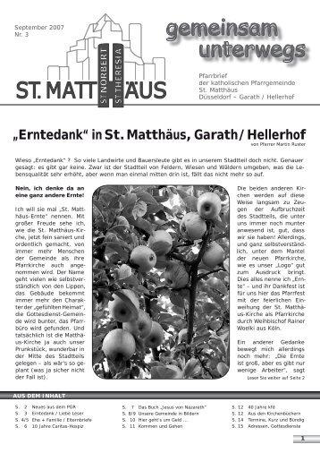 September 2007 - Katholische Pfarrgemeinde St. Matthäus Düsseldorf