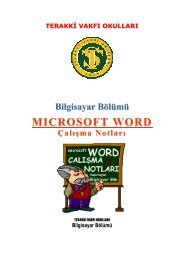 MS Word Ders NotlarI