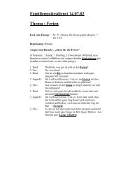 Familiengottesdienst 14.07.02 Thema : Ferien - St. Michael, Ahe