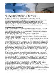Polarity Arbeit mit Kindern in der Praxis - Polarity Verband Schweiz