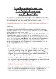Familiengottesdienst zum Dreifaltigkeitssonntag ... - St. Michael, Ahe