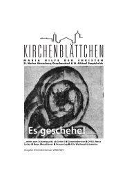 Schon gewusst - Katholische Kirche St. Michael Bargteheide