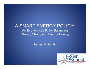 A SMART ENERGY POLICY: An Economist's Rx for Balancing ...