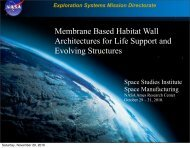 Membrane Based Habitat Wall Architectures for Life Support and ...