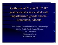 Outbreak of E. coli O157:H7 gastroenteritis associated with ...
