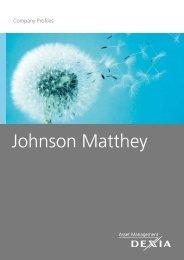 Johnson Matthey - Dexia AM