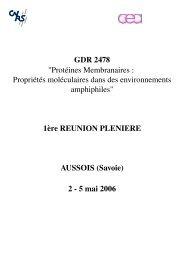 GDR 2478 du CNRS - LISM