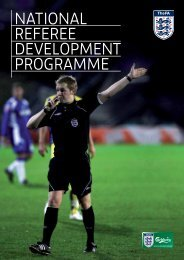 NatioNal RefeRee DevelopmeNt pRogRamme - The Football ...