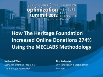 How The Heritage Foundation Increased Online ... - meclabs