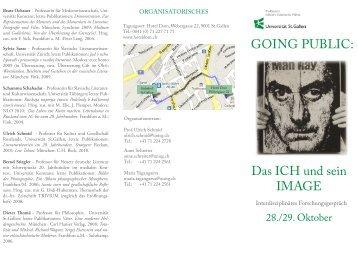 GOING PUBLIC: Das ICH und sein IMAGE - Universität St.Gallen