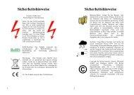 Bedienungsanleitung - Gmyrek Elektronik GmbH