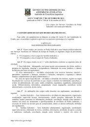 estado do rio grande do sul assembleia legislativa - Assembléia ...