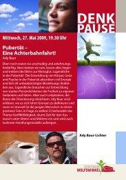 Mittwoch, 27. Mai 2009, 19.30 Uhr Pubertät - Freikirche der ...