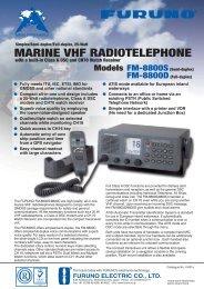 MARINE VHF RADIOTELEPHONE - FURUNO DEUTSCHLAND