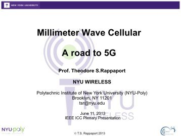 NYU Millimeter Wave Beamforming Propagation Channel at ICC ...