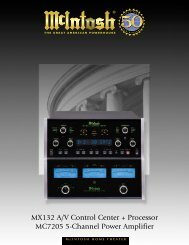 MX132 A/V Control Center + Processor MC7205 5 ... - Audio Classics