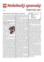 Mohelnický zpravodaj červenec 2011 - Mohelnické kulturní centrum