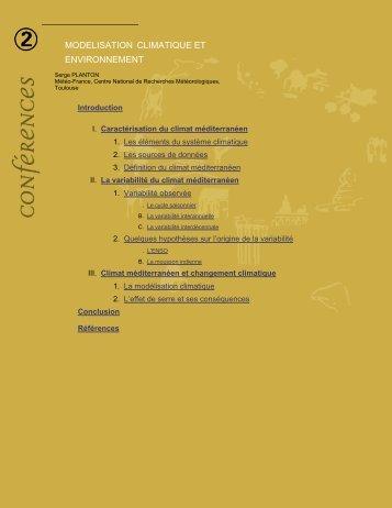 modelisation climatique et environnement - Académie de Toulouse