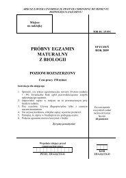 Poziom rozszerzony - dlaStudenta.pl