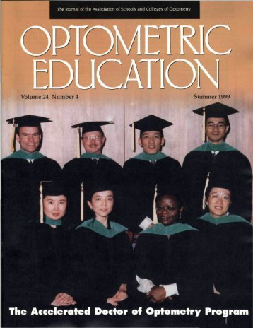 The Accelerated Doctor Of Optometry Program: Outcomes Assessment