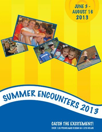 Summer Encounters brochure - Christ Church Episcopal School