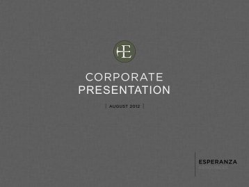 CORPORATE PRESENTATION - gowebcasting