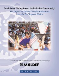 Diminished Voting Power in the Latino Community: The ... - maldef