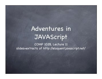 introduction to JAVAScript I.