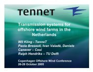 Transmission systems for offshore wind farms in the Netherlands