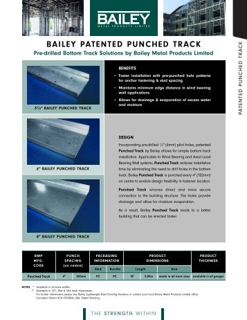 BAILEY PATENTED PUNCHED TRACK