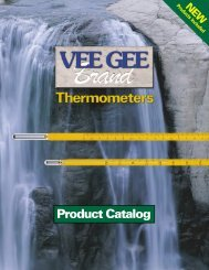 VEE GEE Brand Thermometer Catalog - Clarkson Laboratory and ...
