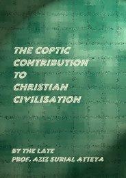the coptic contribution to christian civilisation - Fatherjacob.org