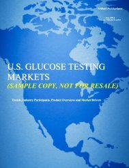 U.S. GLUCOSE TESTING MARKETS - TriMarkPublications.com