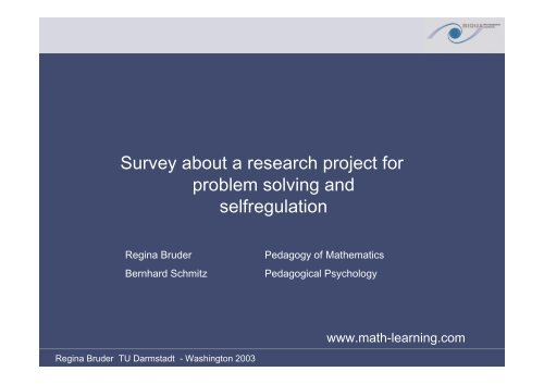 what is problem solving in mathematical learning