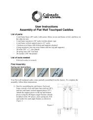 Flatwall Touchpad Caddy Assembly Instructions - Colorado Time ...