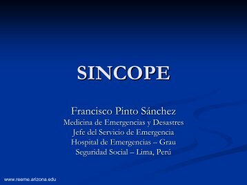 Sincope - Reeme.arizona.edu