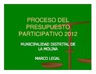 proceso del presupuesto participativo 2012 - Municipalidad de La ...
