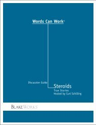 Discussion Guide Steroids - Words Can Work